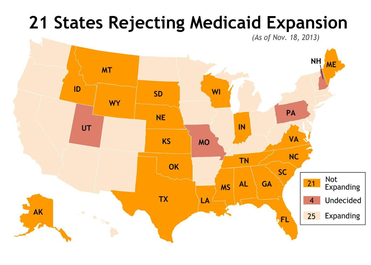 21 States Rejecting Medicaid Expansion Savvyroo